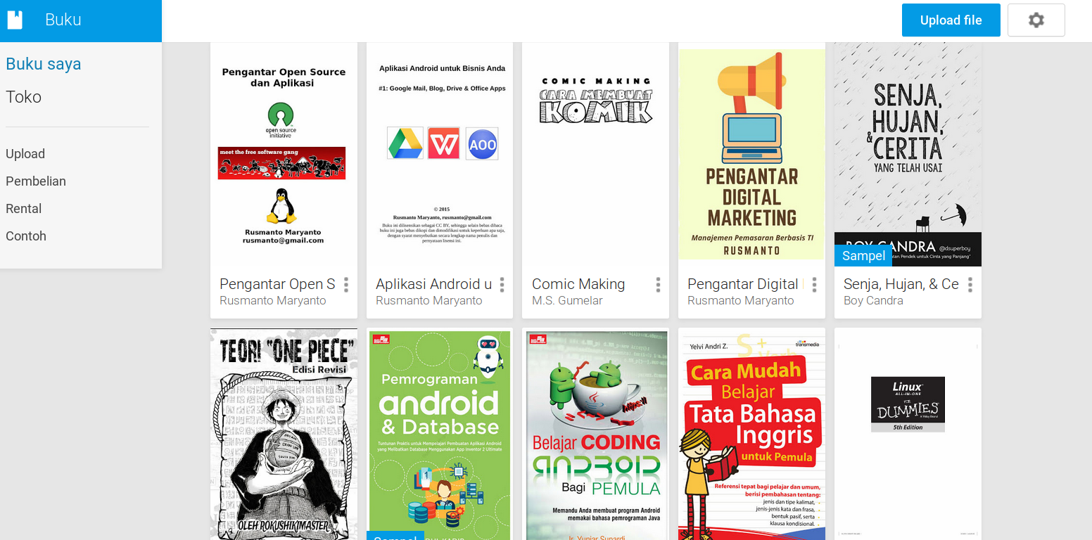 Cara Book Di Google Play